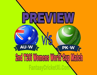 AUS-W vs PAK-W 2nd T20i DREAM11 TEAM