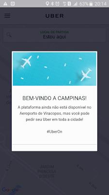 É possível pegar Uber em Viracopos?