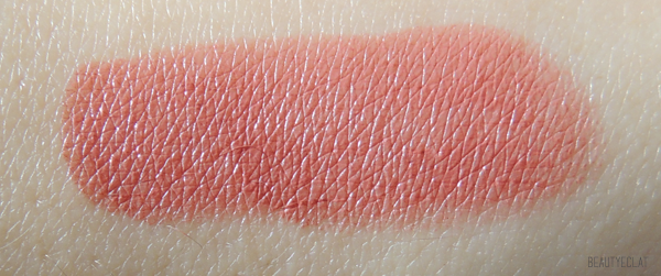 revue avis test laura mercier haute lips full colour swatch creme coral