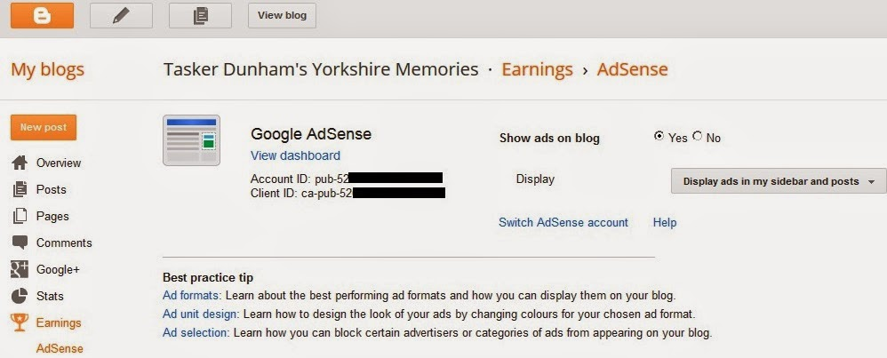 Blogger and Adsense
