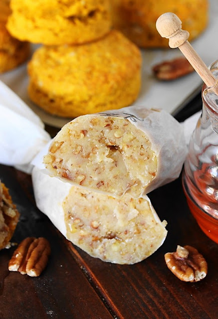 Pecan-Honey Butter Image ~ Add a little special touch to fall and holiday biscuits and breads with this easy-to-make flavored butter.  Whip it up with just three simple ingredients!