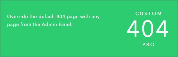 Custom 404 pro plugin