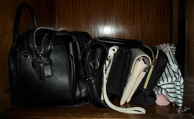 organização das bolsas, guarda-roupa