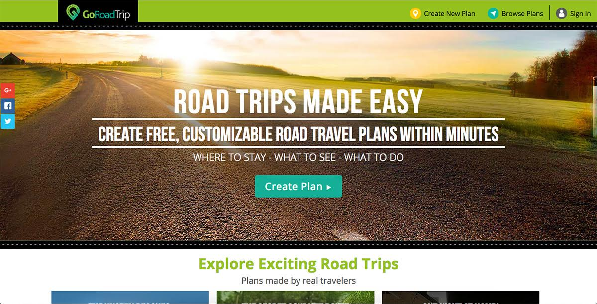 tales of a nomad goroadtrip app customized vacation planner