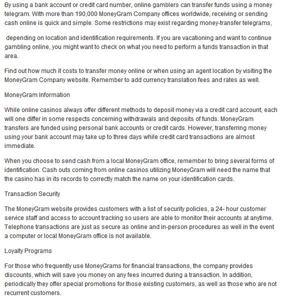 Moneygram Receive Money Online