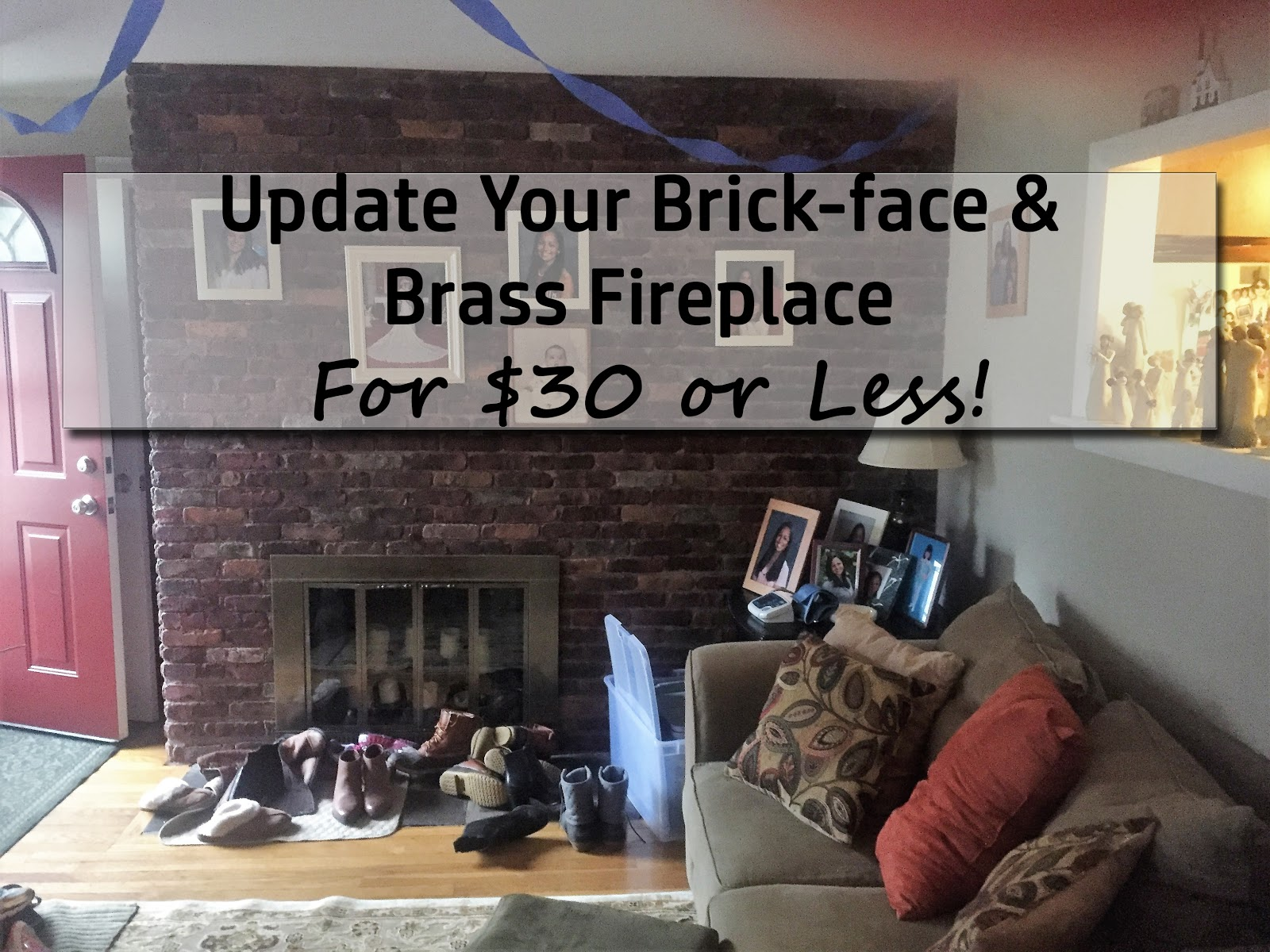 living room fireplace off centered small sectionals while i linger april 2017 my first hurdle was one wall in the it is covered with faux bricks and an a dated brassy gold metal surround