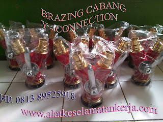 brazing cabang 2 Y connection