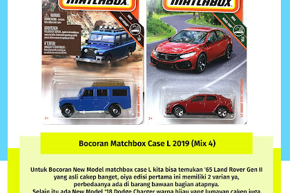 Bocoran Matchbox Case L 2019 (Mix 4)