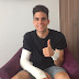Dortmund bus bomb: Marc Bartra gives fans thumbs up after undergoing successful surgery (Photo)