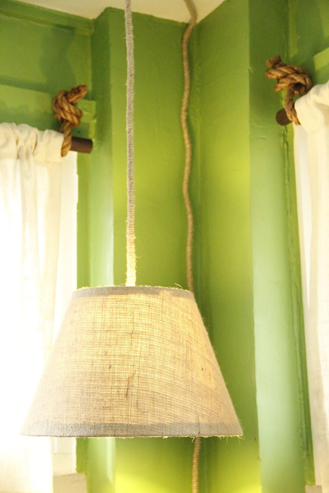 Hanging Pendant Lamp/ DIY Covering a Lampshade