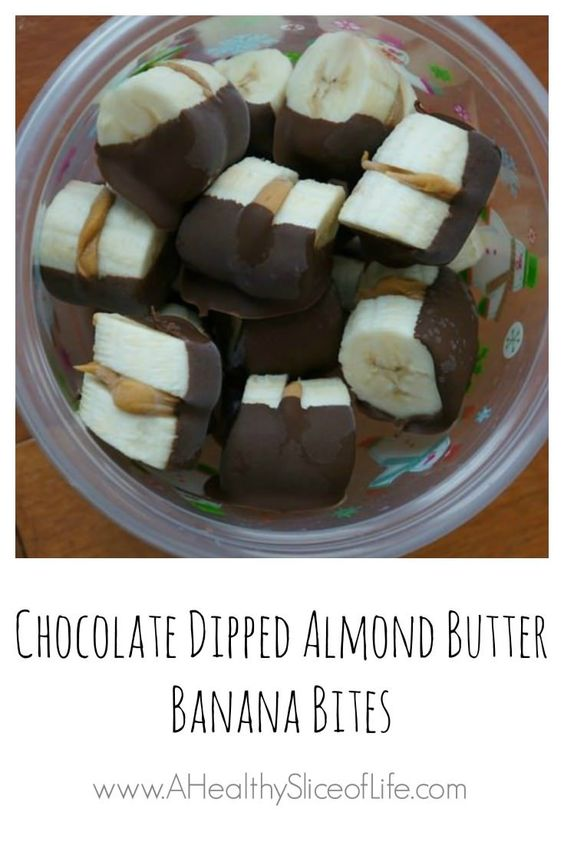 chocolate dipped banana bites - these would be a great frozen treat/snack for summertime
