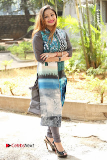 Actress Priyanka Stills in Salwar Kameez at Chinnari Trailer Launch  0086.JPG