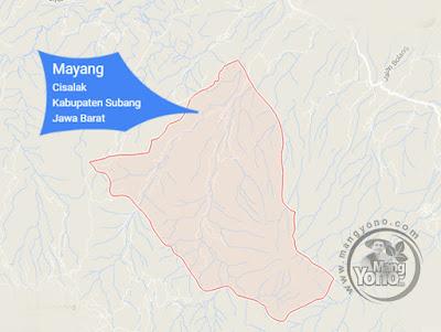 PETA : Desa Mayang Kecamatan Cisalak