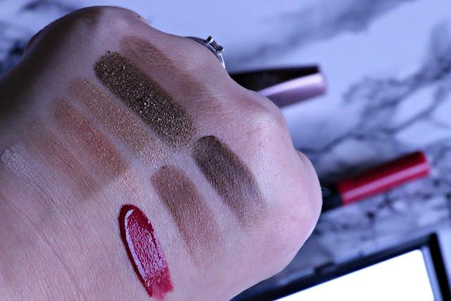 Rimmel Magnifeyes eyeshadow palette, volume colourist mascara, provocalips, scandaleyes bold eyeliner makeup look #getreadywithrimmel valentines day