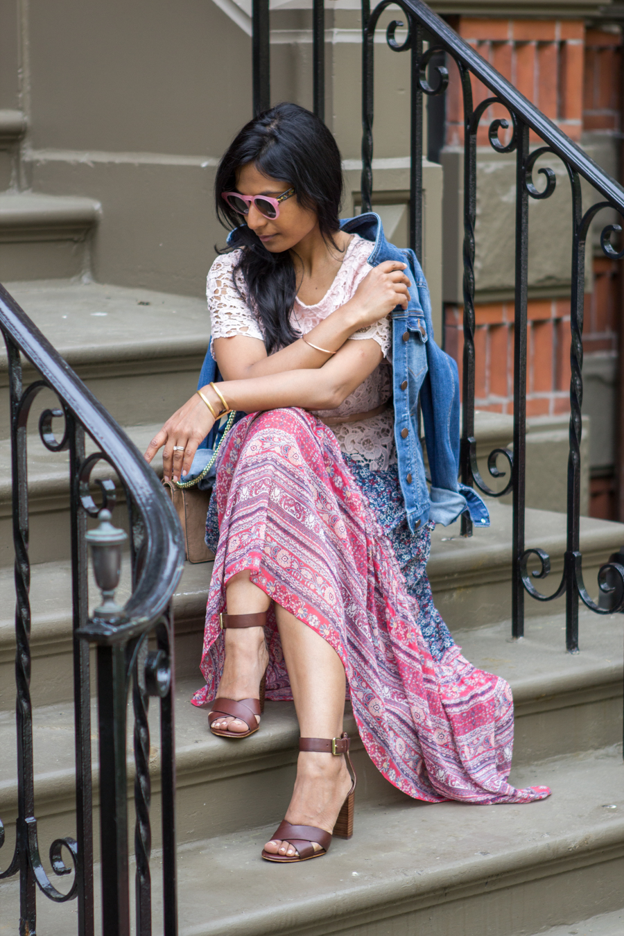 summer, summer style, maxi dress, memorial day outfit, lookbook, boho, blush top, blush belt, petite fashion, what to wear, how to, easy outfit, target style, ann taylor, street level, street style, style blog