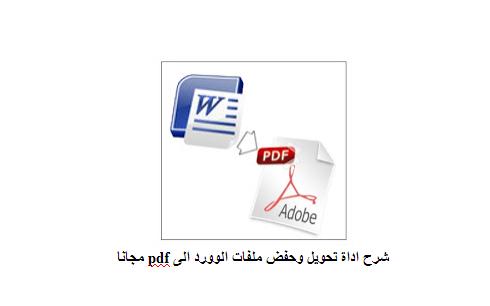 برنامج تحويل ملف word الى pdf