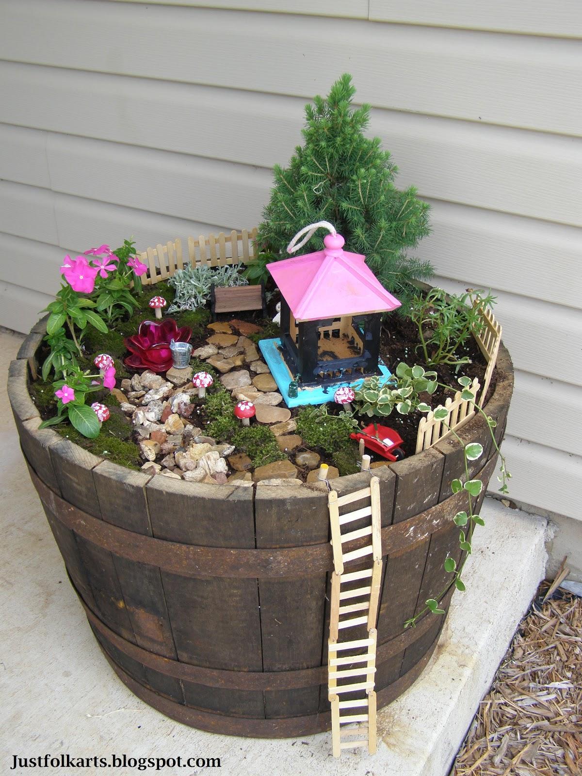 Just Folk Art Making Our Very Own Fairy Garden Part 2