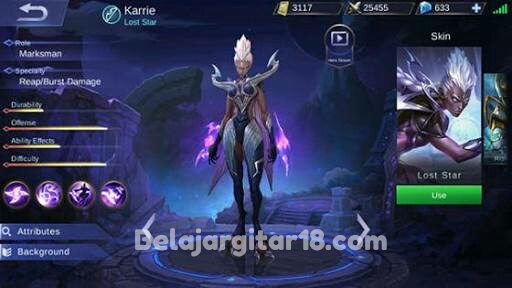 Hero Karrie Mobile legends