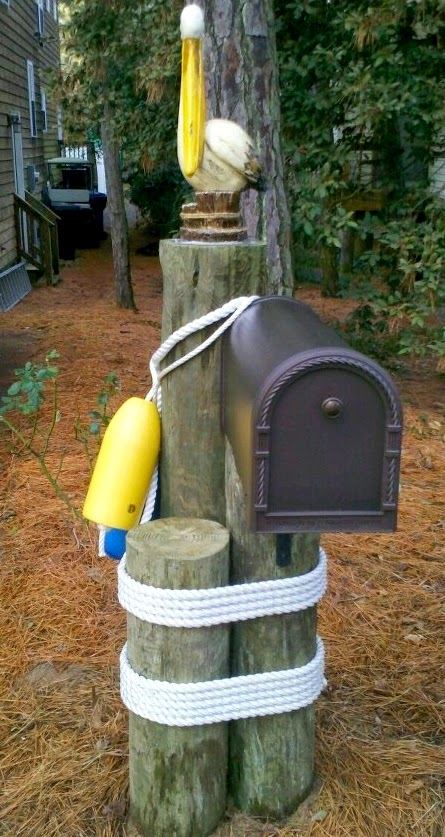 22 awesome unique coastal nautical mailboxes mailbox for Unique mailboxes to buy