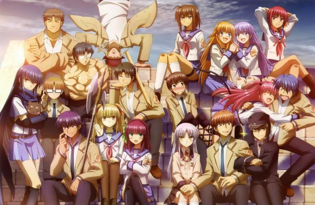 Anime Action School Terbaik - Angel Beats