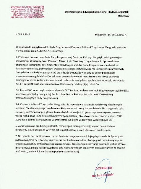 Kompetentna Rada Programowa ds. mrągowskiej kultury
