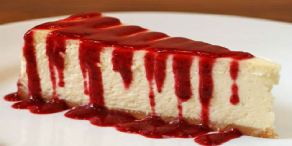 Cheesecake με στέβια και σως φράουλας