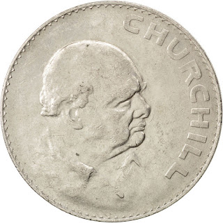 British Coins One Crown 1965 Sir Winston Churchill