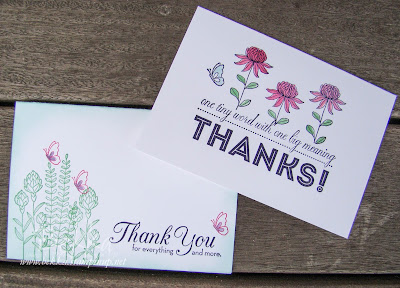 Brenda and Bekka's Crafternoon Challenge Cards featuring Flowering Fields from Stampin' Up! UK