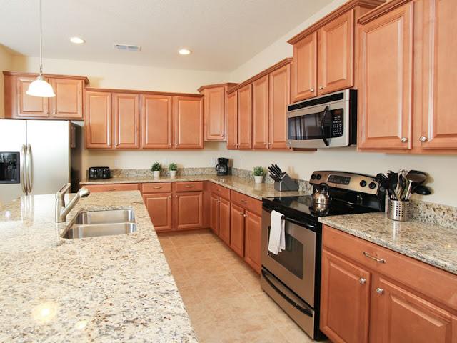 Cozinha das  casas Paradise Palms em Orlando