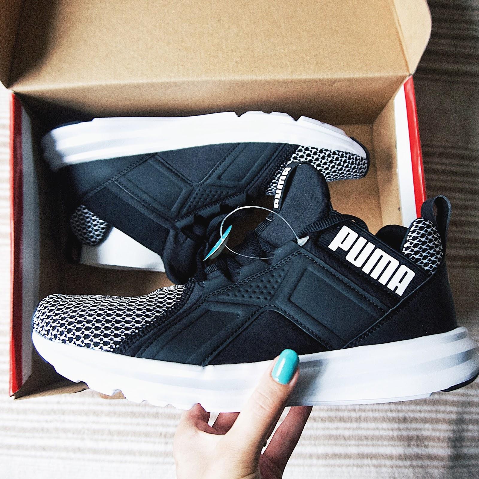 Puma Enzo Shift Black and White