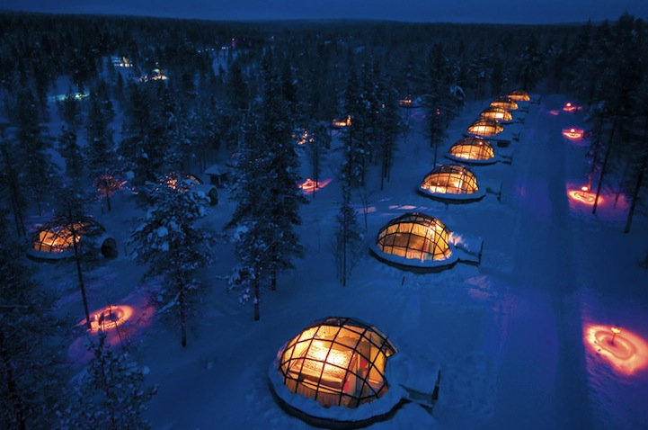 Glass Igloos with Magnificent Northern Lights Views in Finland