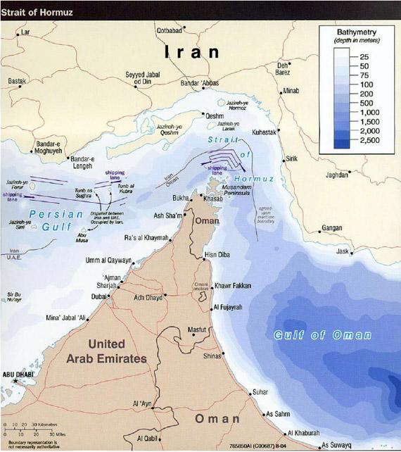 Estrecho De Ormuz Mapa.Puede Iran Cerrar El Estrecho De Ormuz Legalmente A Los