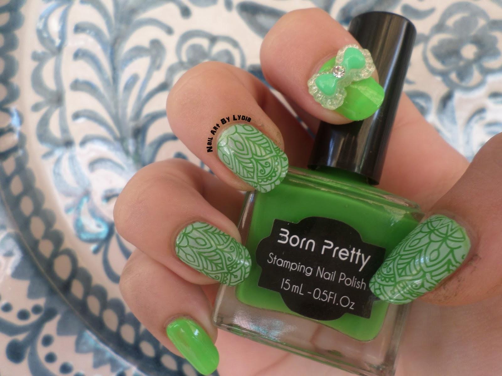 Nail Art By Lydia: Reto Colores Cosas De Chicas 4 : Verde