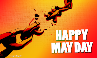 may day wishes images broken chain link freedom