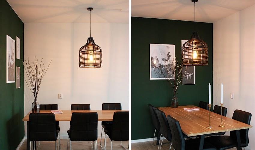 Een nieuwe lamp boven de eettafel