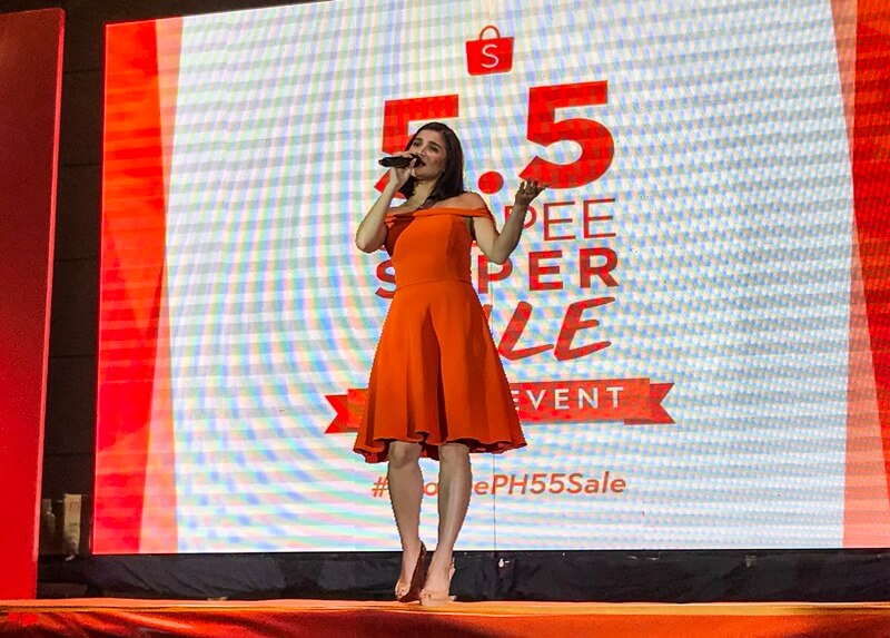 Anne Curtis Graces the Stage During the 5.5 Shopee Super Sale Launch
