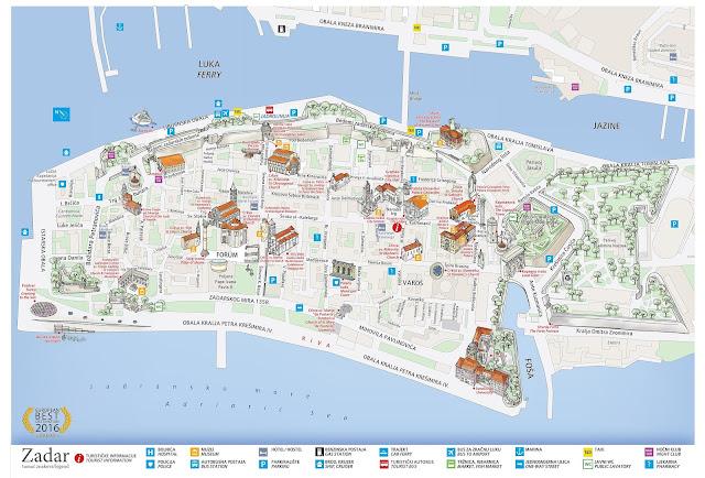 Plano turístico de Zadar, Croacia
