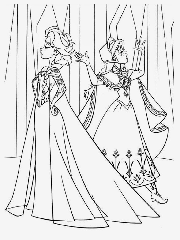 frozen elsa and anna coloring pages - search results for frozen anna and elsa coloring pages to