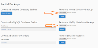 Restore Home Directory backup