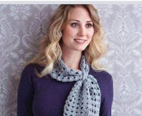 Patrón #1816: Hermosa Bufanda a Crochet