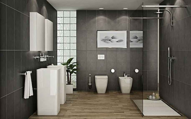 Cute Colour Black And White Tile Bathroom Decorating Ideas Pictures