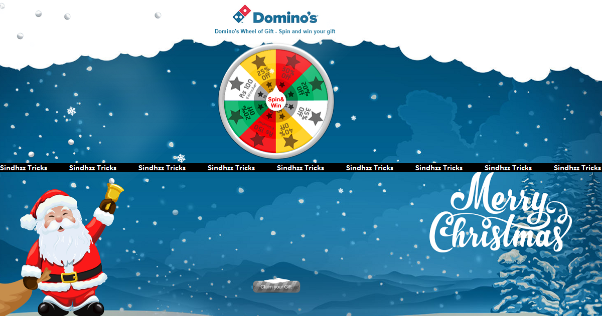Script Added)Domino's Spin and Win - Get Free Vouchers and