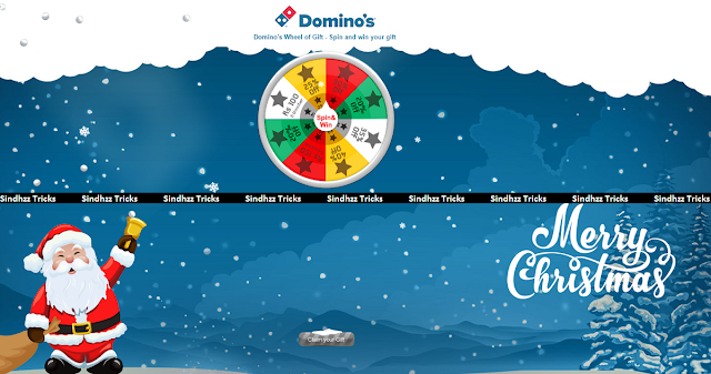 (Script Added)Domino's Spin and Win - Get Free Vouchers and offers