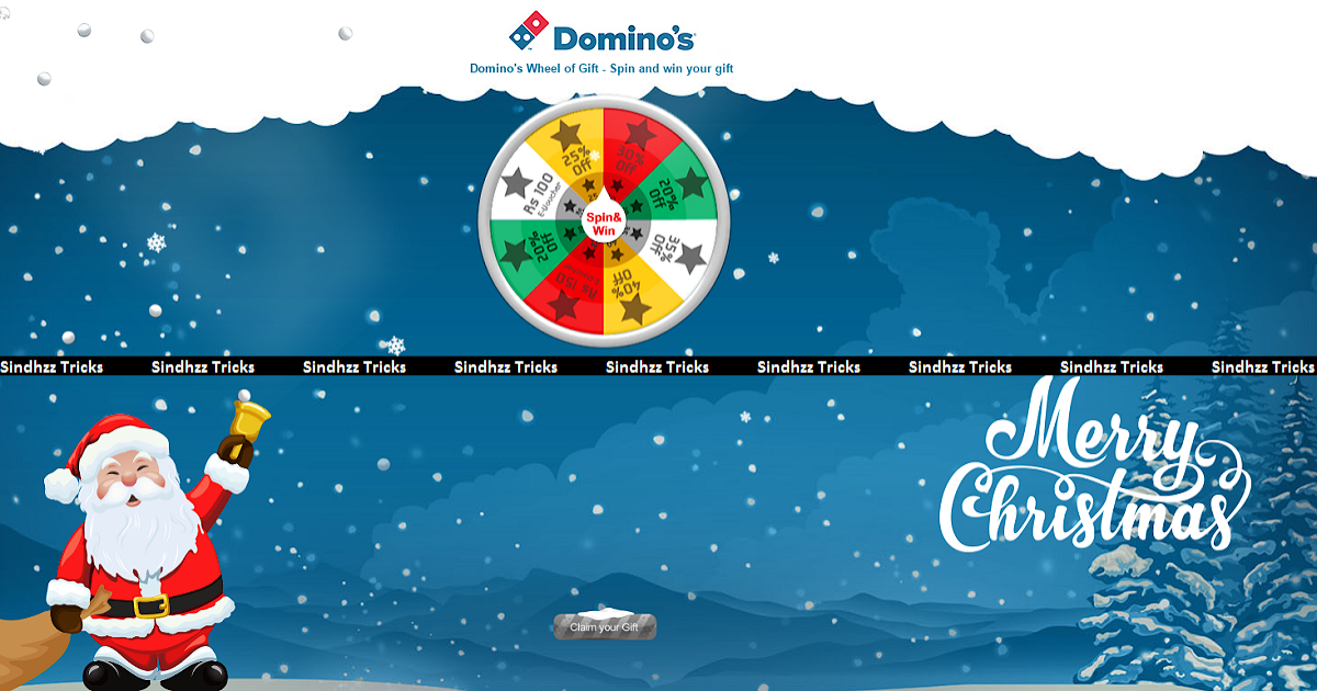 Script Added)Domino's Spin and Win - Get Free Vouchers and offers