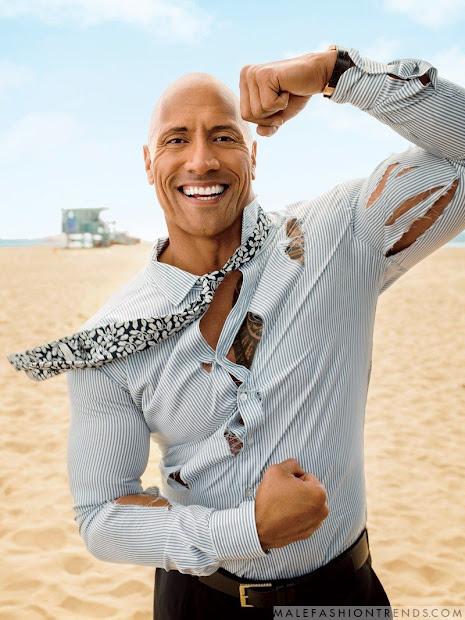 Dwayne Johnson Para Gq Usa Por Peggy Sirota - Male Fashion