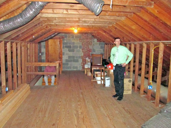 Before picture- turning our attic into a master bedroom bathroom and nursery