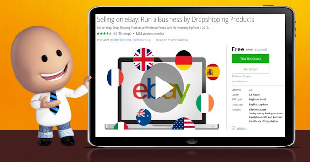 [100% Off] Selling on eBay: Run a Business by Dropshipping Products| Worth 195$
