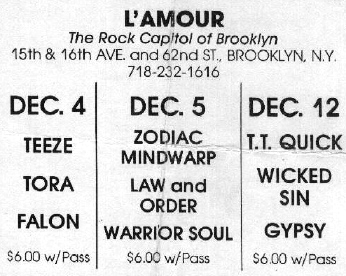 L'amour rock club advertiesment
