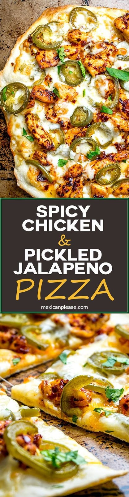 SPICY CHICKEN AND PICKLED JALAPENO PIZZA