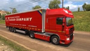 Lazar International Company trailer and DAF skin